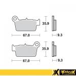 Тормозные колодки ProX KX250F/450F '04-20 + RM-Z250/450 '04-16 (VD-271), 37.201302
