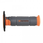 Ручки руля (грипсы) Ariete OFF-ROAD Trinity Grey-Orange-Black, 02614-GRAR