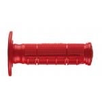 Ручки руля (грипсы) Ariete OFF-ROAD UNITY HALF WAFFLE красные закрытые, 02621/A-R
