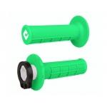 Ручки руля (грипсы) ODI V2 Lock-On MX HALF-WAFFLE Green Flo, H36HWN