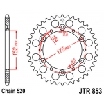 Звезда задняя JT, 853.45