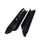 Защита вилки черная на KLX250