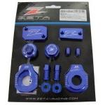 Крышки на мотоцикл комплект ZETA Billet Kit HQV.TE150-300/FE250-501'17- Blue, ZE51-2566