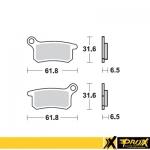 Тормозные колодки ProX KTM65SX '02-20 (VD-9006), 37.109202