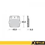 Тормозные колодки ProX YZ65 '18-20 + YZ80/85 '93-20 (VD-127), 37.200802
