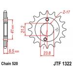 Звезда передняя JT, 1322.14