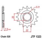 Звезда передняя JT, 1323.13SC, 125 CRM 125 CRF 250 (PBR2120)