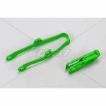 Слайдеры набор (маятник, ловушка) UFO, KX250F 09-16/450F 09-15, зеленый, KA04710#026