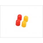 Колпачки ниппеля DRC Air Valve Caps 4pcs Red/Yellow, D58-03-212