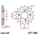 Звезда передняя JT, 1309.15 XR650