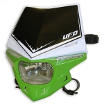 "Фара UFO ""STEALTH"" зеленая, PF01715#026"