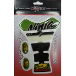 5115 Наклейка на бензобак Kawasaki Ninja бело-зеленая