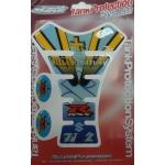 5306 Наклейка на бензобак GSX-R синяя RIZLA+
