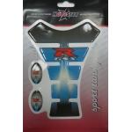 5314 Наклейка на бензобак GSX-R сине-серая