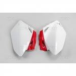 Боковые панели UFO CRF 450R 05-06, бело-красные, HO03656#W