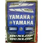 Наклейки комплект PLANO 19 YAMAHA синие 5997