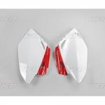 Боковые панели UFO CRF 450R 07-08, бело-красные, HO04616#W