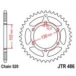 Звезда задняя JT, 486.47