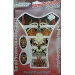 5555 Наклейка на бензобак Motor Sports Skull