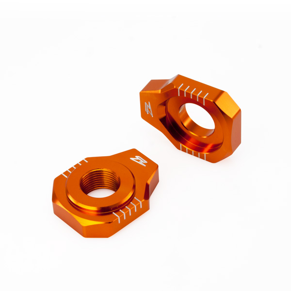 Натяжитель цепи ZETA Rear Axle Block KTM SX/SXF-'12, 85SX,EXC Orange, ZE93-5427