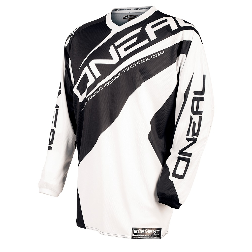 Джерси Oneal Element Racewear black/white M, 0024R-103