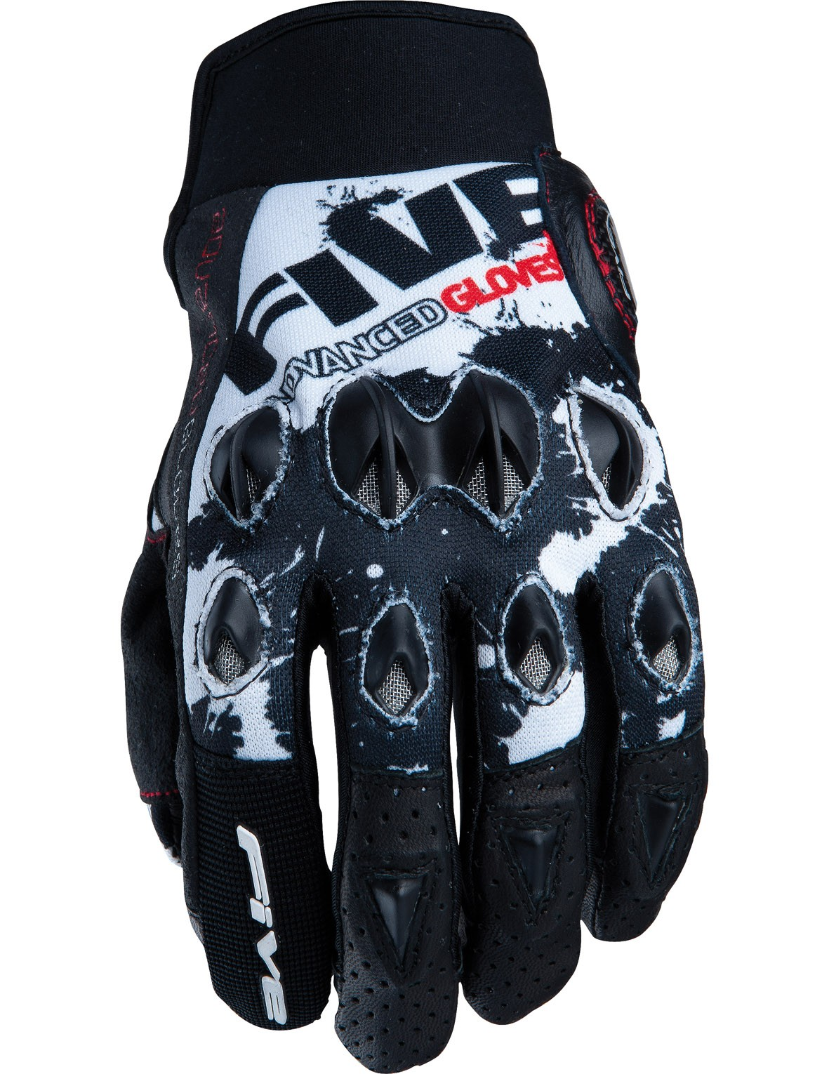 Перчатки FIVE, STUNT REPLICA Splash black/white XL