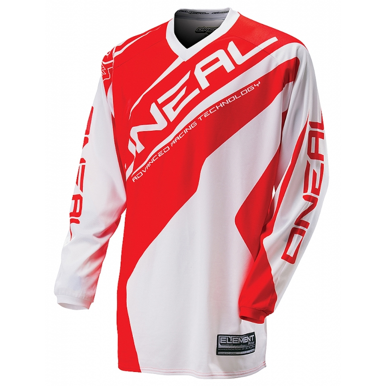 Джерси Oneal Element Racewear white/red M, 0024R-313