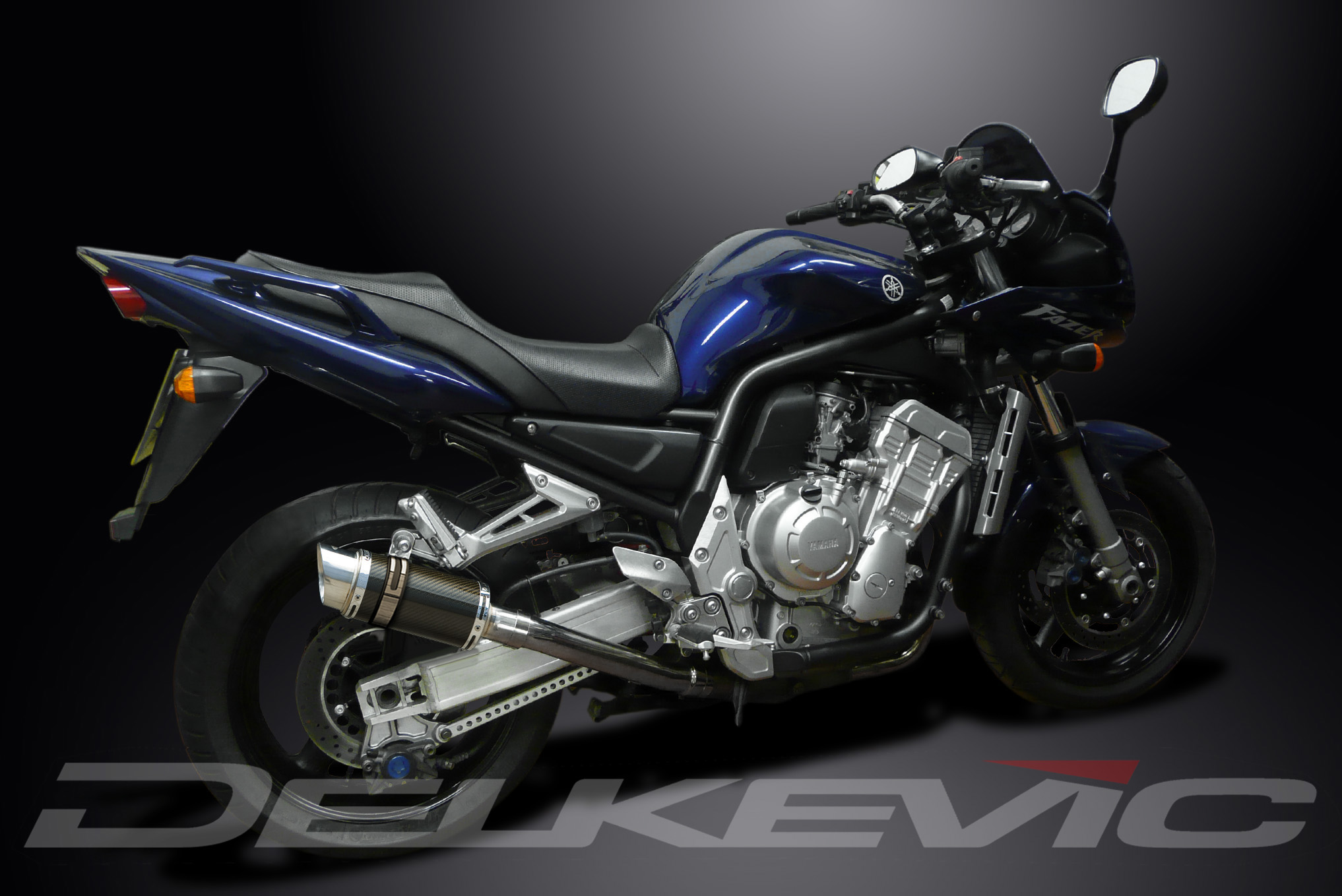 Глушитель DELKEVIC, Yamaha FZS1000 FZ-1 2001-2005 carbon 200mm